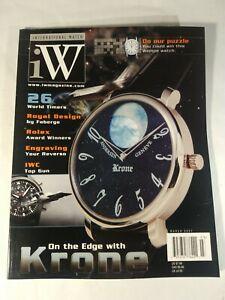 International Watch Magazine March 2007 No Address Labels On Cover EUC