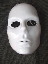 Mardi Gras Mask Adult Woman's Full Face White Blank Artist  Costume Plastic