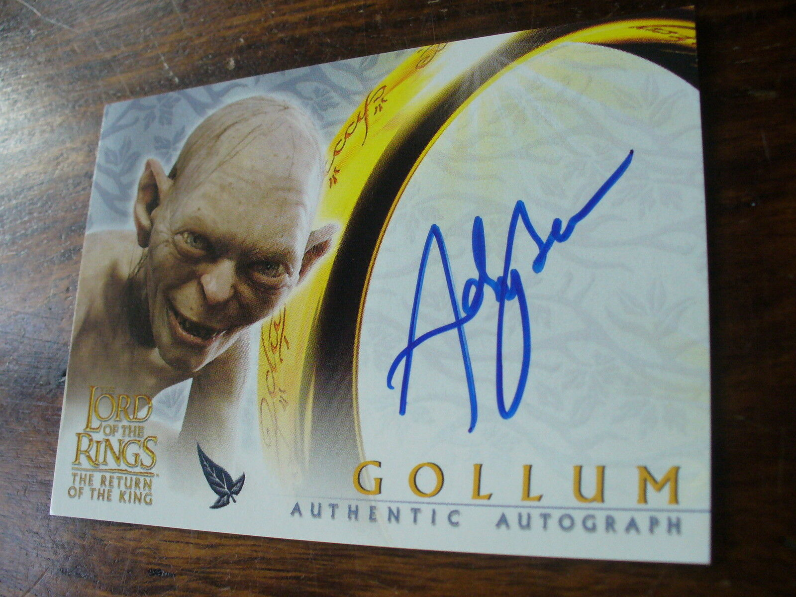 Topps LOTR Return of the King Authentic Autograph Card Andy Serkis as Gollum