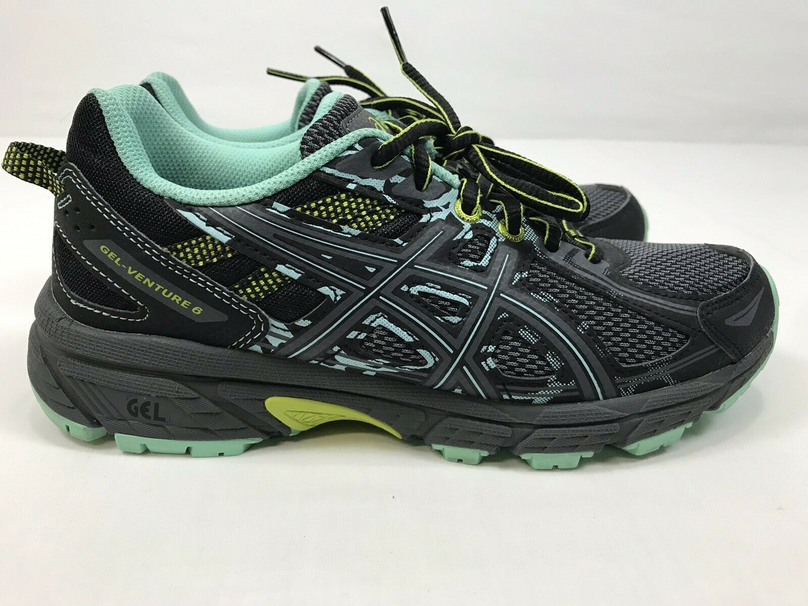 Asics Gel-Venture 6 T7G6N.9097 Trail Running shoes Women's Size 6.5 Grey