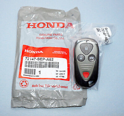 NEW OEM GENUINE ACURA TL TSX KEYLESS ENTRY REMOTE 72147-SEP-A52