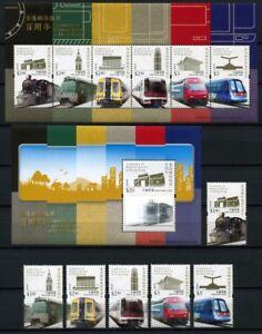 Audacieux Hong Kong 2010 Chemin De Fer Trains Railway Centenary 3d 1575-1580 Bloc 216-217 Neuf Sans Charnière-afficher Le Titre D'origine