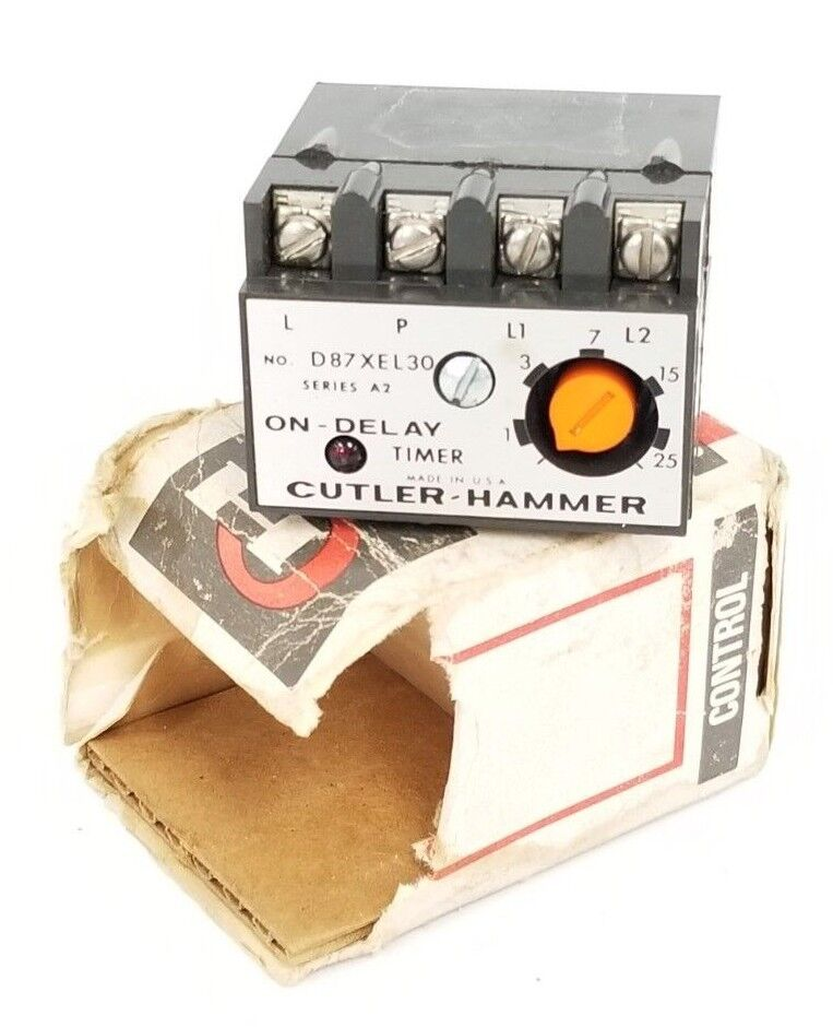 NEW CUTLER-HAMMER D87XEL30 SERIES A2 ON-DELAY TIMER