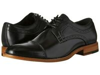 Stacy Adams Mens Dickinson Cap Toe Oxford Black Leather Dress Shoes 25066-001