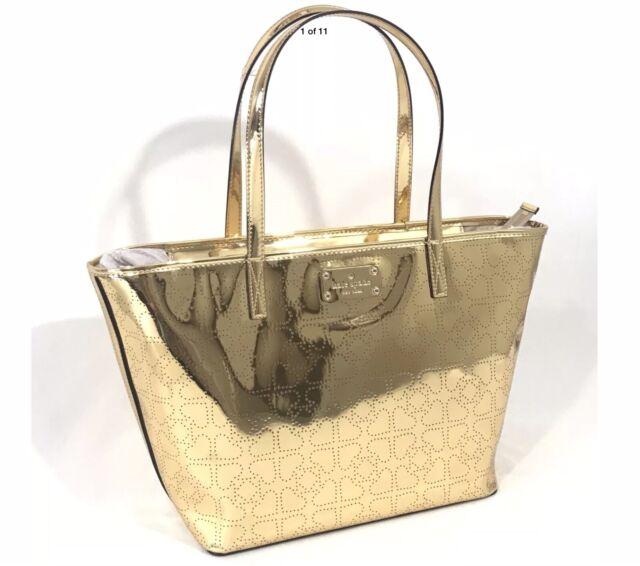 Kate Spade Harmony Metro Handbag Bright Gold Tote Bag Wkru1879