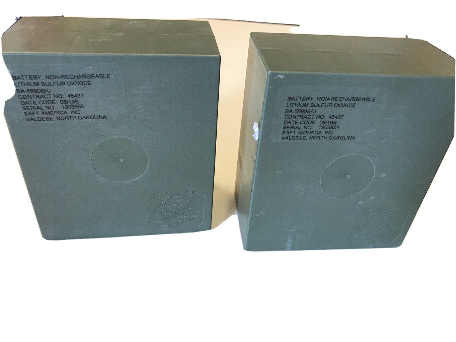Saft Ba-5590/U Battery (12V/24V), Lithium, Military, Sealed, Radio, NOS US A