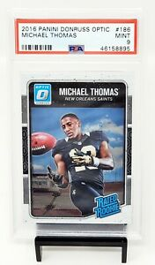2016-Optic-Saints-RC-Star-MICHAEL-THOMAS-Rookie-Football-Card-PSA-9-Low-Pop-87