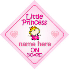 Princesa Elsie a bordo Girl Coche Señal child//baby gift//present 002