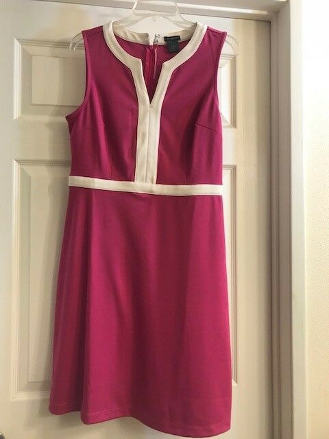 93e94517e586 NWT Ann Taylor Fitted Sleeveless Dress Size Size Size 6 Casual Dressy Pink  RSP 119.99 32a018