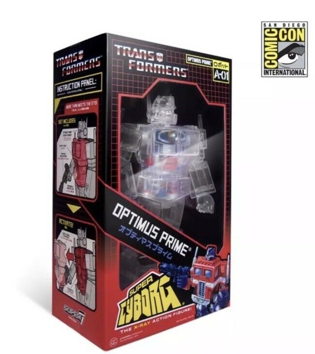 SDCC Comic Con 2018 Super7 Transformers Super Cyborg Optimus Prime 18″ Figure