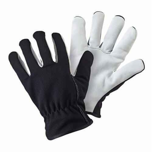 Taille L Noir /& Blanc Briers B6320 double en cuir doublé copier Gants