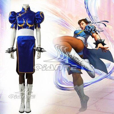 Street Fighter V Chun-Li Cosplay Costume Outfit Hot Game Halloween Clothing Set