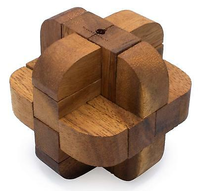 Neutron 3d Brain Teaser Unusual 6 Piece Wooden Burr Puzzle For Adults Ebay