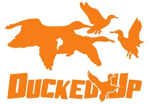 Ducked Up window decal,sticker,decoy,duck,hunting,decoy,waterfowl,blind,dynasty
