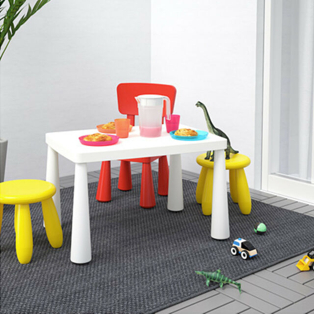 Grand IKEA Table Pour Enfant MAMMUT En Blanc 77x55 Cm Meubles Chambre Du0027ENFANTS
