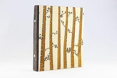 Holz Stammbuch Ringbuch Liebesvögel Liebe Ringbuchmappe Hochzeit Holz
