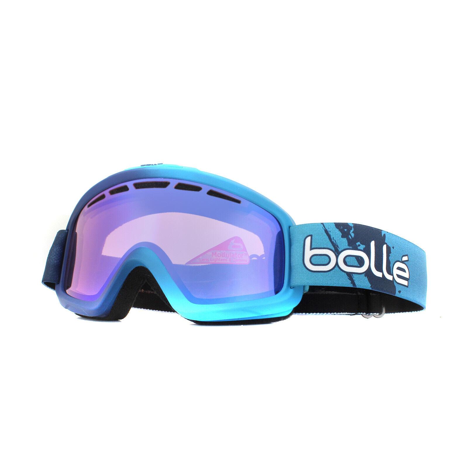Bolle Skibrille Nova II 21850 Matt Blau Gradient Aurora Blau