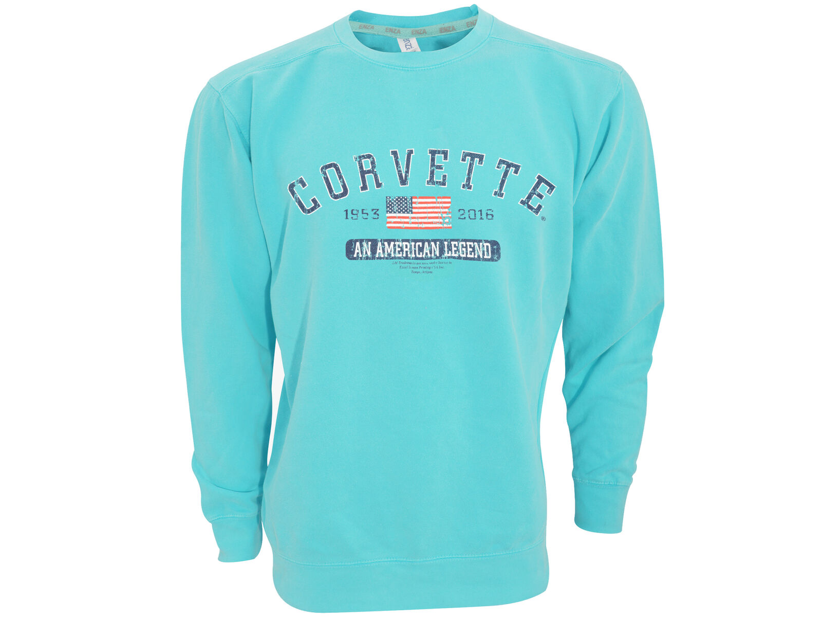 Corvette Seaglass bluee American Legend Ladies Sweatshirt