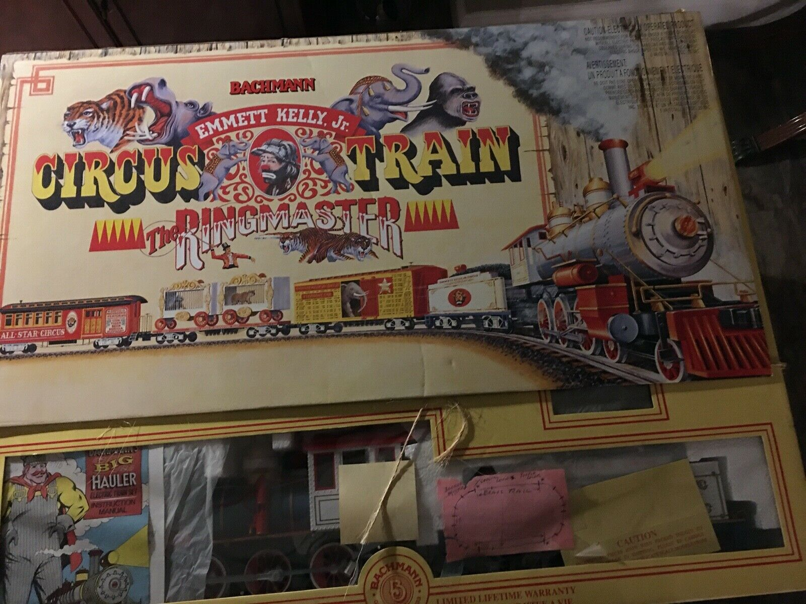 Bachuomon Emmett Kelly Jr Circus Train Set The Ringmaster  90020 completare G Scale