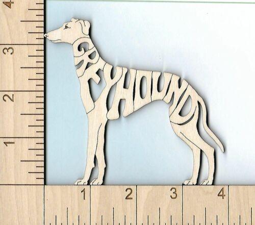 GREYHOUND dog standing laser cut Magnet Great Gift Idea