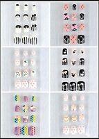 Diy Acrylic Nails Tips Fashion 3d Design Art (short) 24 Pcs/box Bow Heart