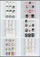 Diy Acrylic Nails Tips Fashion 3d Design Art (short) 24 Pcs/box Bow Heart