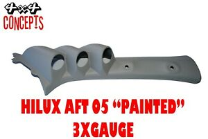 3-Gauge-Pillar-Pod-Painted-Grey-to-suit-Toyota-Hilux-After-05-Aussie-Made-52mm