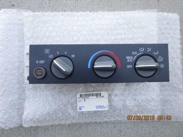 HVAC Control Panel ACDelco GM Original Equipment 15-72216