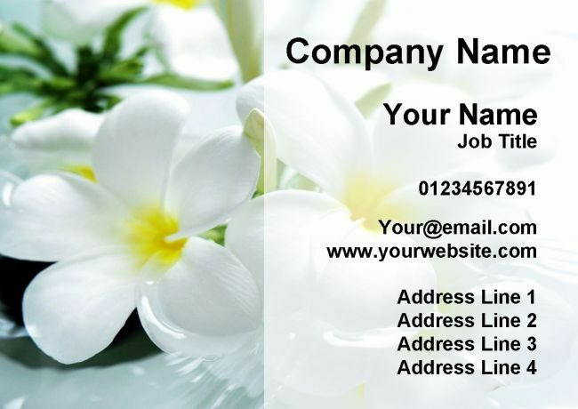 Beauty Salon Massage Treatment Spa Personalised Business Cards