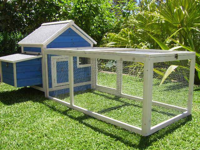 Chicken Coop Somerzby Blue Cottage Rabbit Hutch Guinea pig cage ASSEMBLED PICKUP