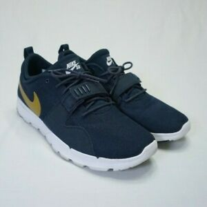 Details about Nike SB Trainerendor Men's Shoe Dark Blue/Gold Size 13