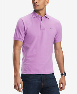 Details about Tommy Hilfiger Men's Orchid Ice Purple Custom Fit Short Sleeve Polo Shirt