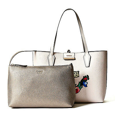 Guess Bobbi inside out Tote Bag Nude Pewter, Women's Handbag Shoulder Bag | eBay