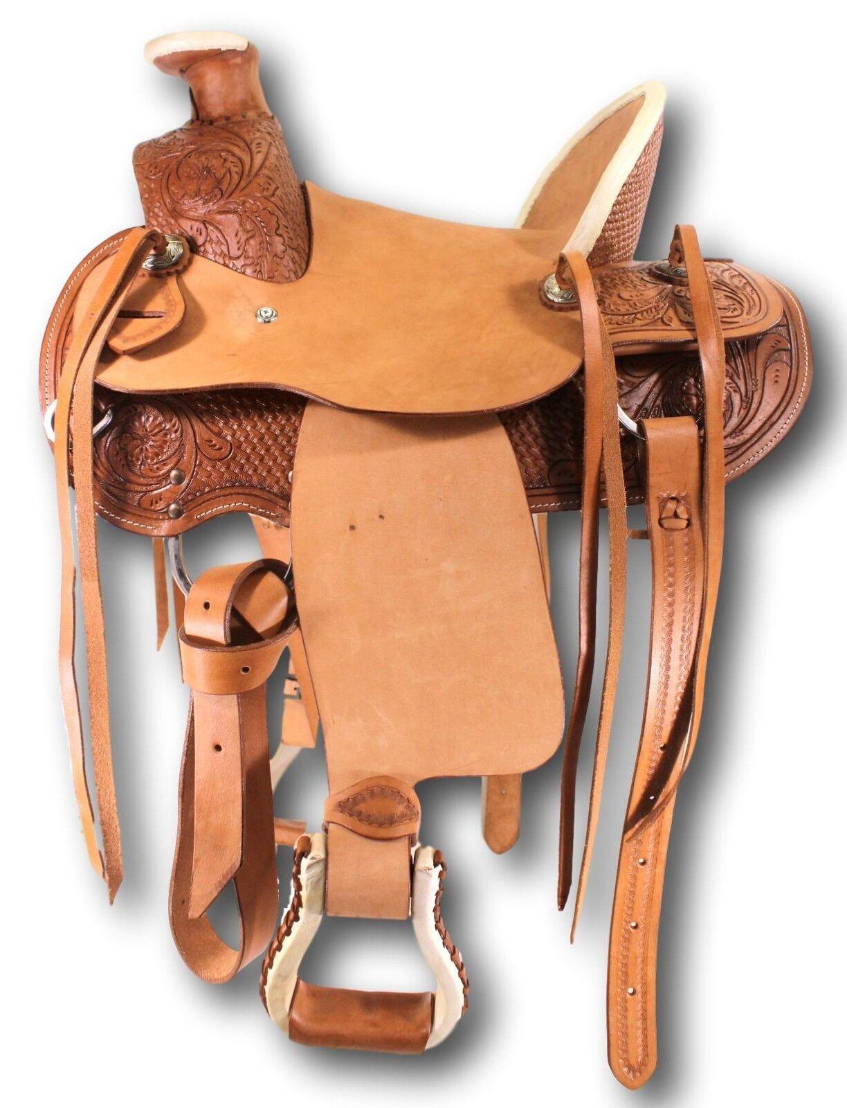 D.A. marca Kid's 12  De Cuero fileteado Wade PONY Silla Tachuela del caballo Equino