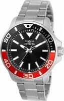 Invicta 21665 Men's Pro Diver Black Dial Stainless Steel Bracelet Watch