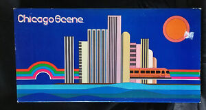 CHICAGO-SCENE-Board-Groovy-Game-1977-Vintage-Monopoly-political-type