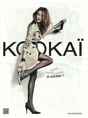Other Breweriana Publicite Advertising 2011 Kookai Manteau Chaussures Aromatic Flavor Breweriana, Beer