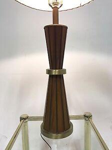 Vintage Atomic Sputnik Teak Brass Wood Danish Mid Century Modern