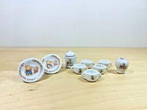 Sylvanian-Families-Vintage-Ceramic-Tomy-Bowls-Vase-Plates-Rare-Tableware