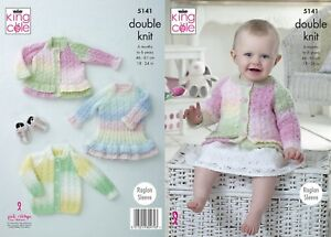 c9e3e7e05 KINGCOLE 5141 - Baby DK Knitting Pattern -sizes 18-24 - Not the ...