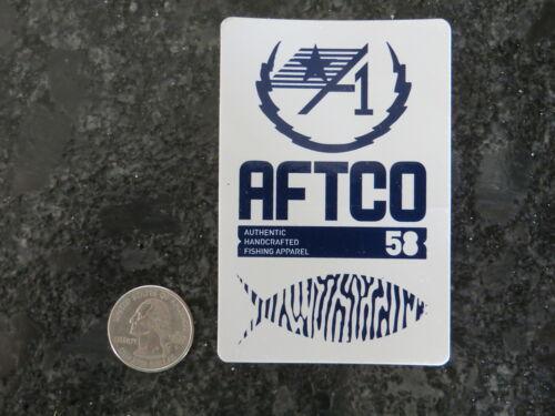 New Fishing Sticker AFTCO 1958 White /& Blue Logo 2 1//2 x 3 3//4  inch