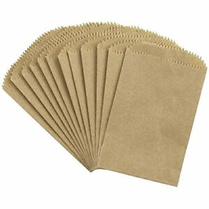Details About 25 Mini Brown Paper Bags 3 5 X 2 6 75 With Rounded Top