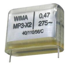 4 Stück Wima MP3 X2 KONDENSATOR 0,47µF 470nF 275VAC RM-27,5 made in Germany