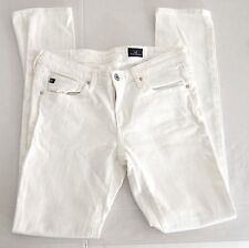 AG Adriano Goldschmied Womens Solid White Skinny Jeans Made in USA 26R