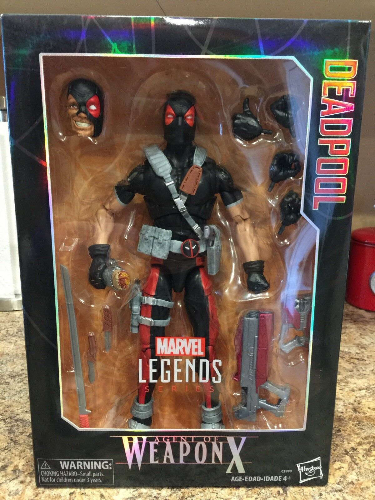 MARVEL LEGENDS AGENT OF WEAPON X DEADPOOL 12  FIGURE NEW FREE SHIP EXCLUSIVE