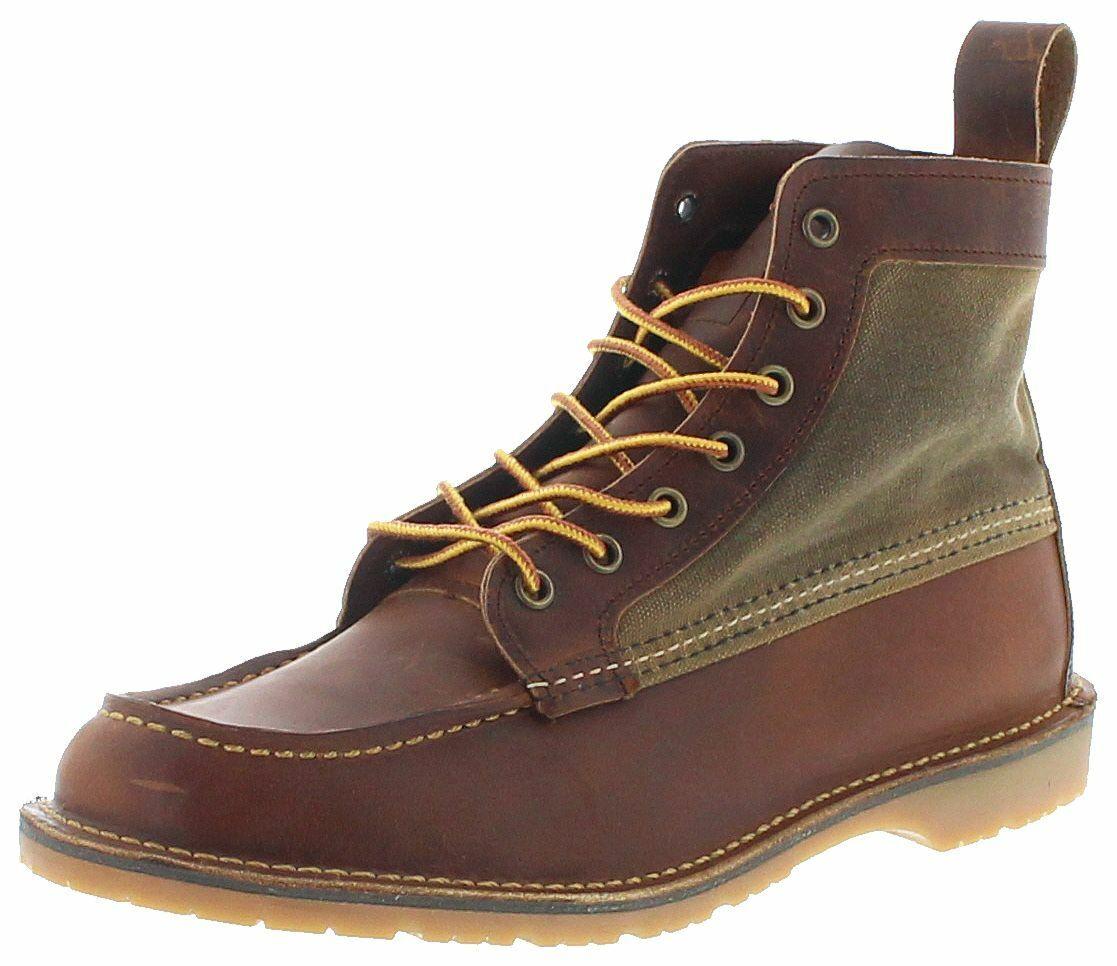 Rojo Wing zapatos 3335 Wacouta copper tan señores Chukka botas ata marrón