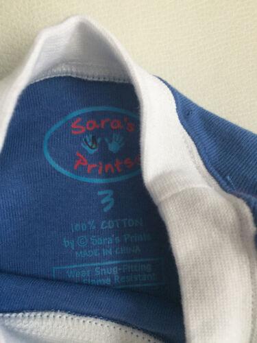 NEW Sara/'s Prints Boys/' Shirt Cotton Size 2,3  Long Sleeve