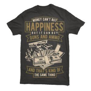 T-dinero-Camiseta-para-hombre-Blanco-tiempo-municion-felicidad-Rap-Hip-Hop-Top-Gun-S-3XL
