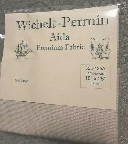 "Wichelt Imports PREMIUM Cross Stitch Fabric AIDA 16ct 18/"" X 25/"" LAMBSWOOL"