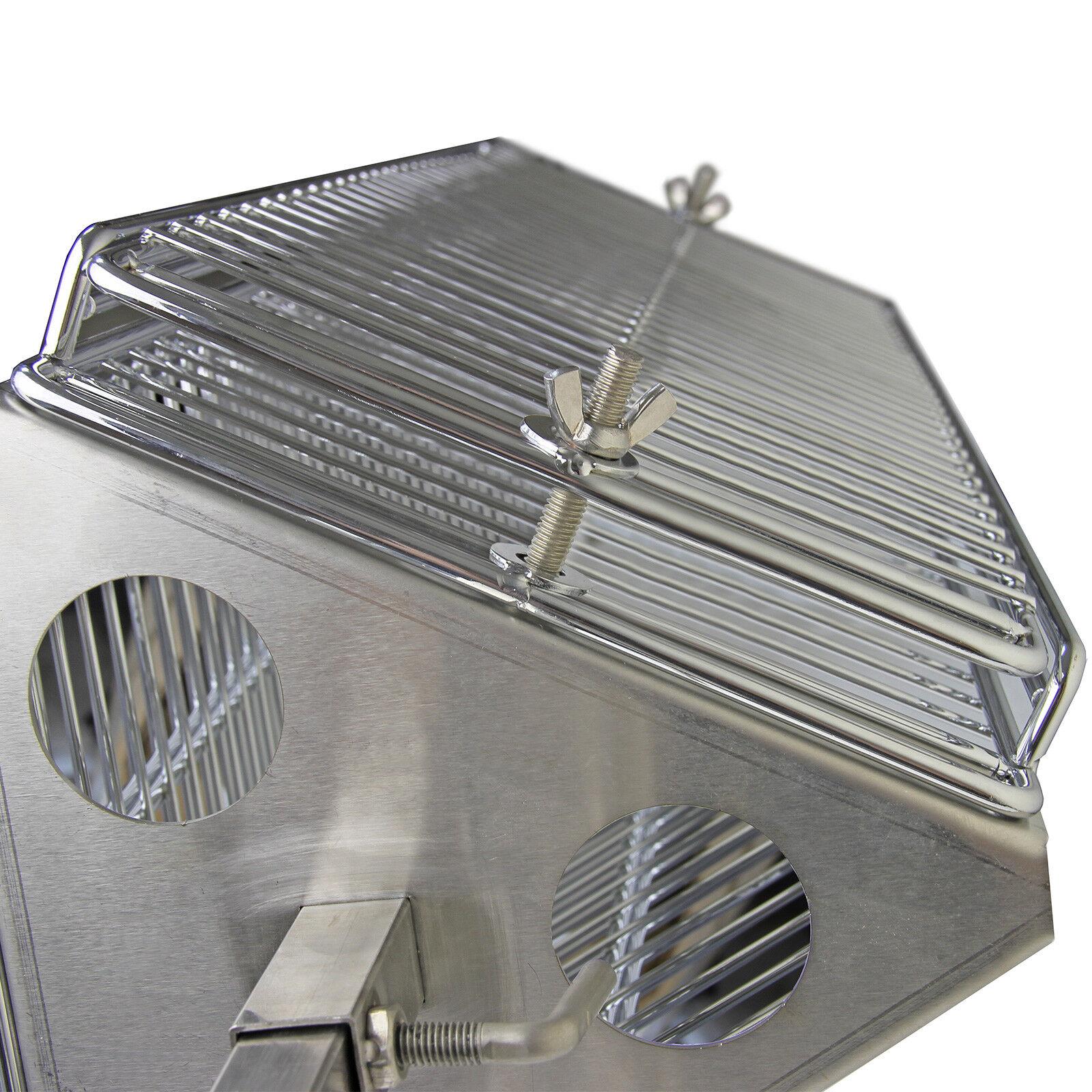 Parrilla Asador Barbacoa Exterior Grill Giratorio con Espetón Giratorio Grill de 3 Alturas c24fd3